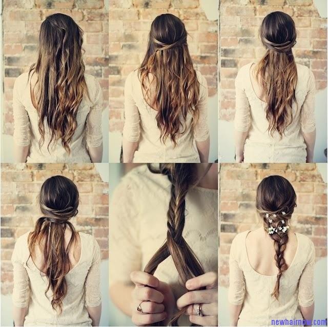 Прически на очень длинные волосы своими руками на каждый день