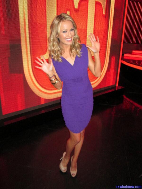 Entertainment Tonight/Insider host Brooke Anderson wearing