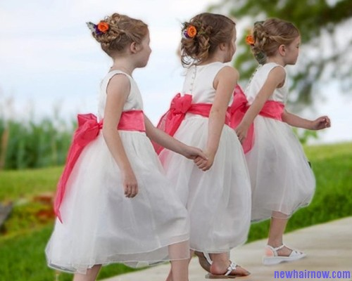 Brilliant Flower Girl Hairstyles New Hair Now Hairstyle Inspiration Daily Dogsangcom