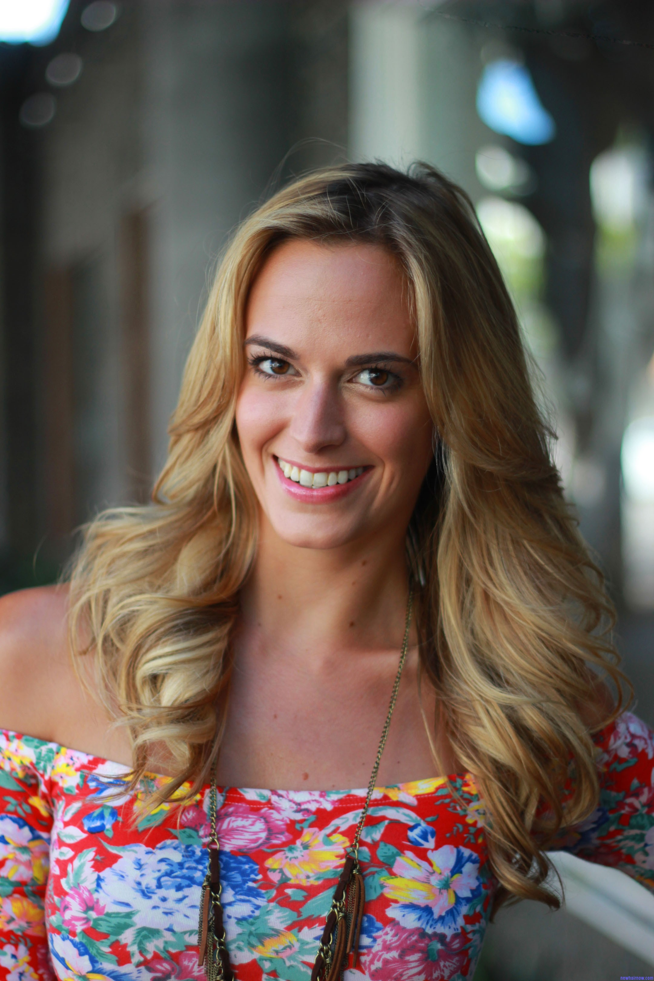 Jena Sims Long And Curly Straight Hairstyle New Hair Now