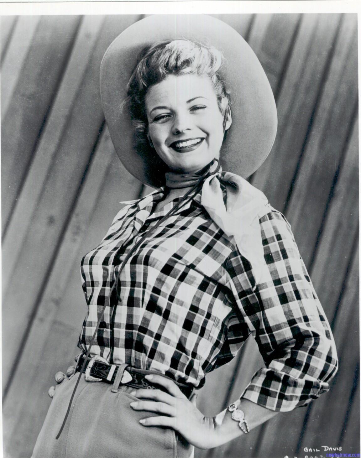 1950s Gail Davis glossy print