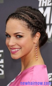 short hair french braid8