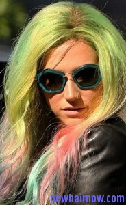 green hair color2