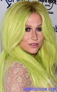 green hair color7